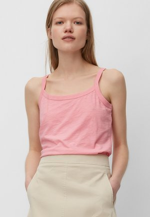 SLEEVELESS MULTISTITCHING - Top - sunlit coral