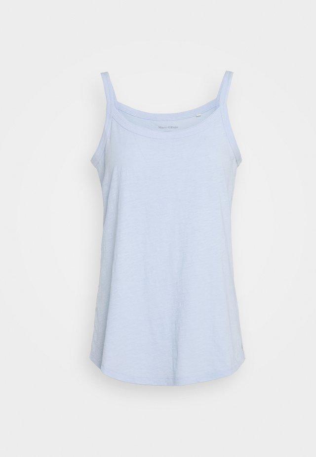 SLEEVELESS MULTISTITCHING - Top - light blue