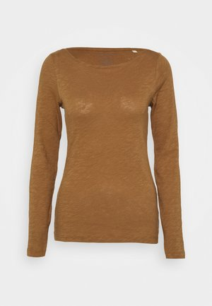 LONG SLEEVE - Long sleeved top - deep tobacco