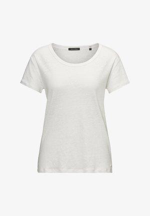 MARC O'POLO T-SHIRT AUS LEINEN-SLUB-JERSEY - Basic T-shirt - white
