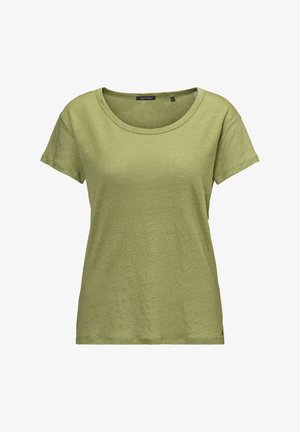 MARC O'POLO T-SHIRT AUS LEINEN-SLUB-JERSEY - Basic T-shirt - seaweed green