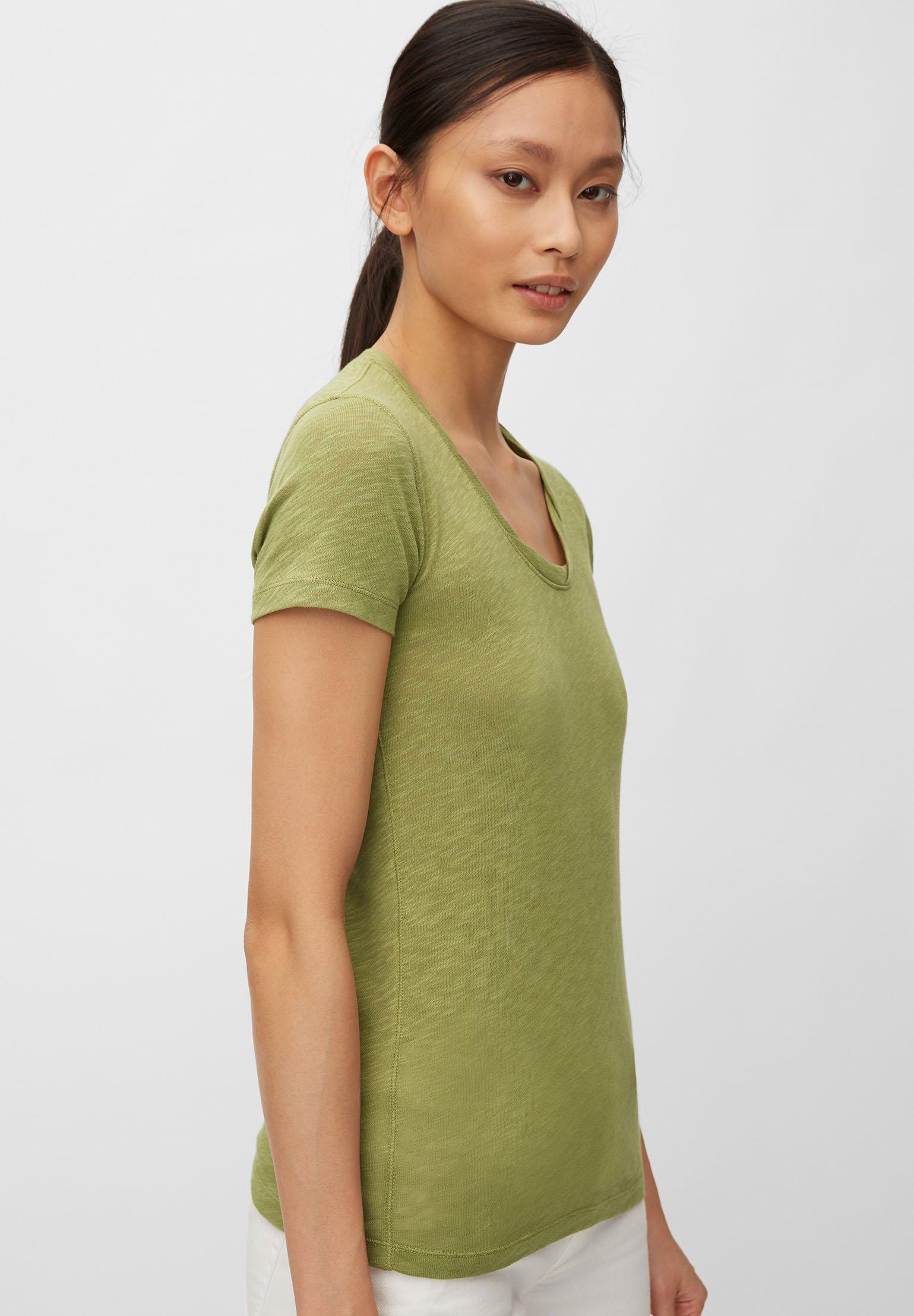 Marc O'polo T-shirt Aus Organic Cotton-jersey - Basic Seaweed Green 0YMoUac