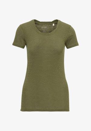 MARC O'POLO T-SHIRT AUS ORGANIC COTTON-JERSEY - Basic T-shirt - soaked moss