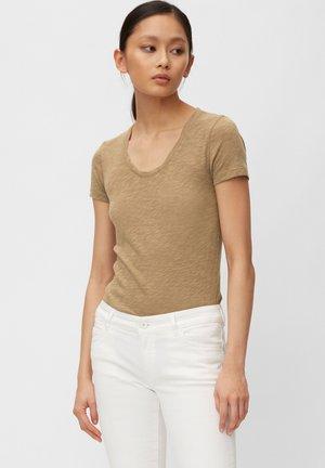MARC O'POLO T-SHIRT AUS ORGANIC COTTON-JERSEY - Basic T-shirt - shaded walnut