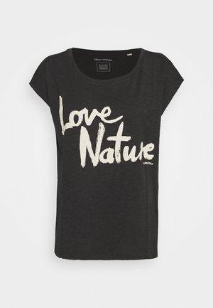 SHORT SLEEVE ROUND NECK PLACED - Print T-shirt - breezy black
