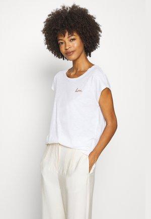 SHORT SLEEVE ROUND NECK - T-shirt con stampa - white