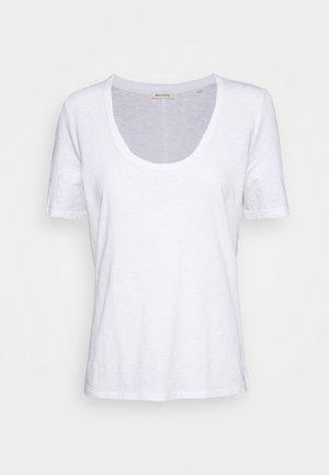 SHORT SLEEVE ROUND NECK SOLID - T-shirt basic - white