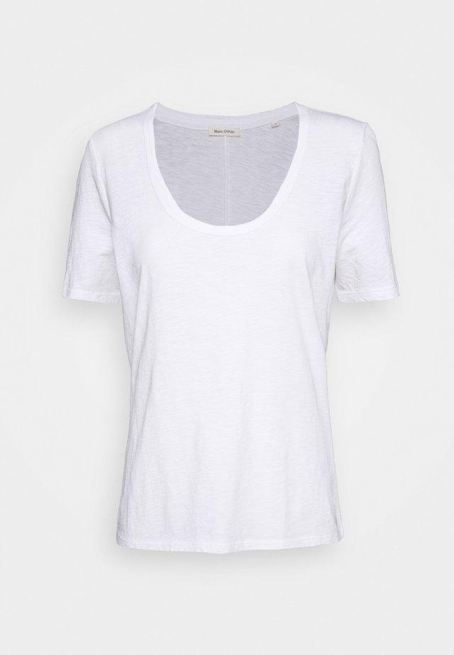 SHORT SLEEVE ROUND NECK SOLID - Jednoduché triko - white