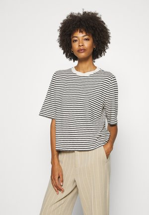 BOXY CROPPED STRIPED - Camiseta estampada - multi/raw sand