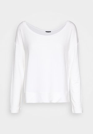 LONG SLEEVE BOAT NECK - Long sleeved top - oyster white