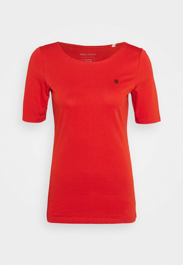 SHORT SLEEVE ROUND NECK SOLID - T-Shirt print - bright seaberry