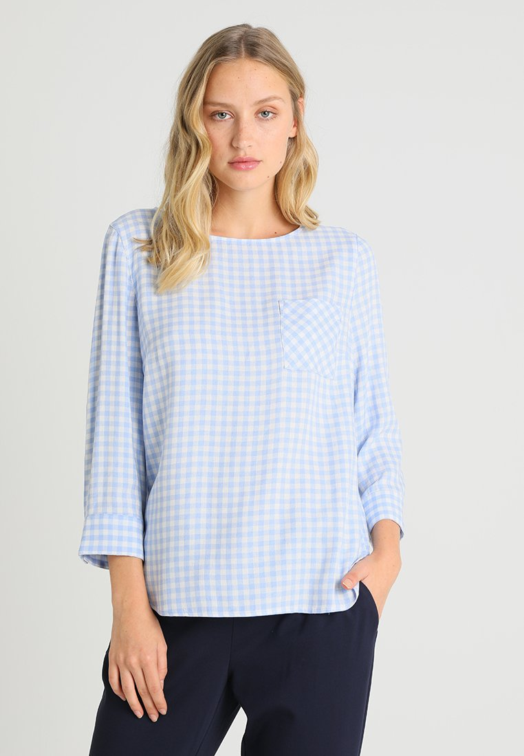 Marc O'Polo - BLOUSE NORMAL FIT SLEEVED - Blusa - light blue
