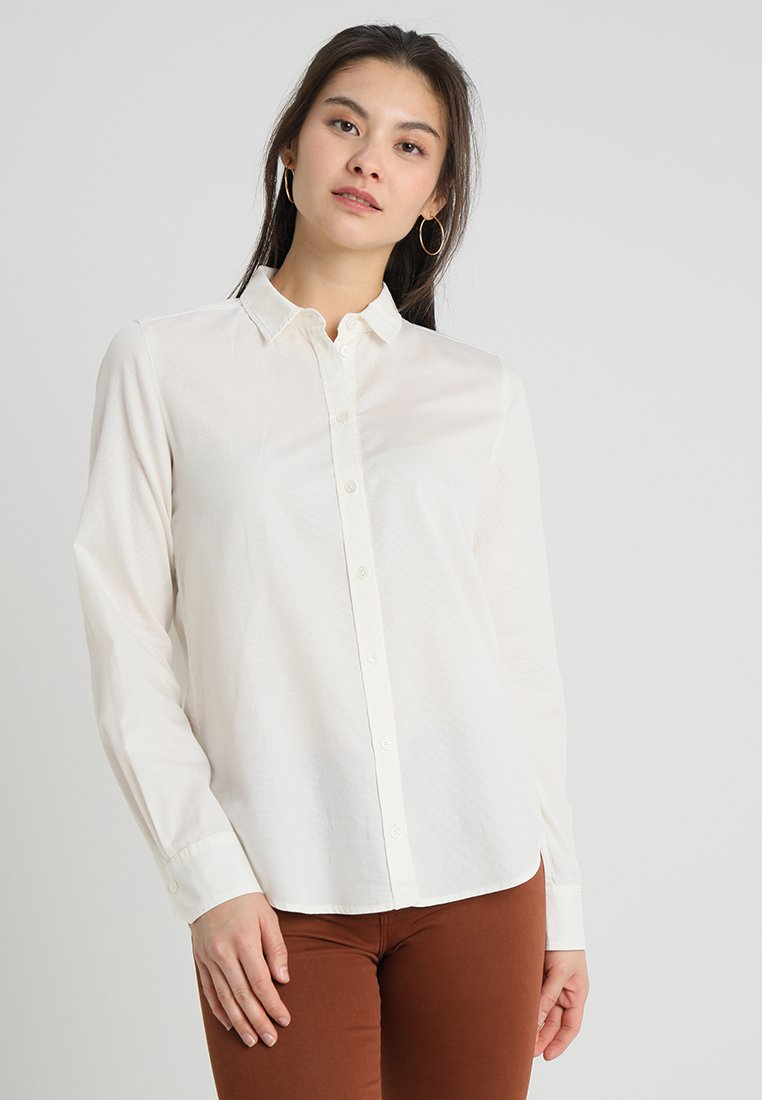 Marc O'Polo - BLOUSE NORMAL SHAPE PLEAT DETAIL - Camisa - raw alabaster