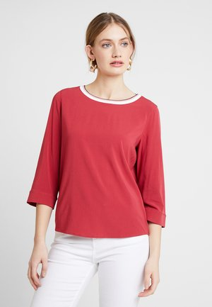 BLOUSE STYLE WITH TAPE - Blouse - mulberry red