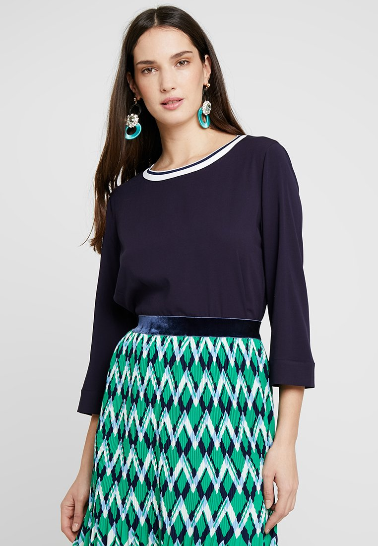 Marc O'Polo - BLOUSE STYLE WITH TAPE - Bluse - deep atlantic