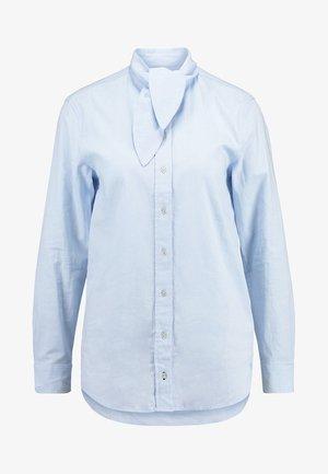 BLOUSE TIE NECK BUTTON PLACKET - Button-down blouse - pastel sky