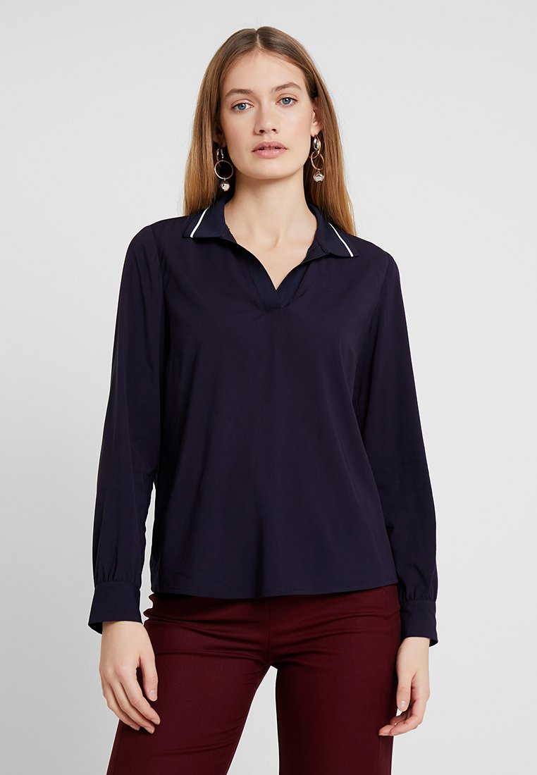 Marc O'Polo - BLOUSE FLAT COLL - Bluse - deep atlantic