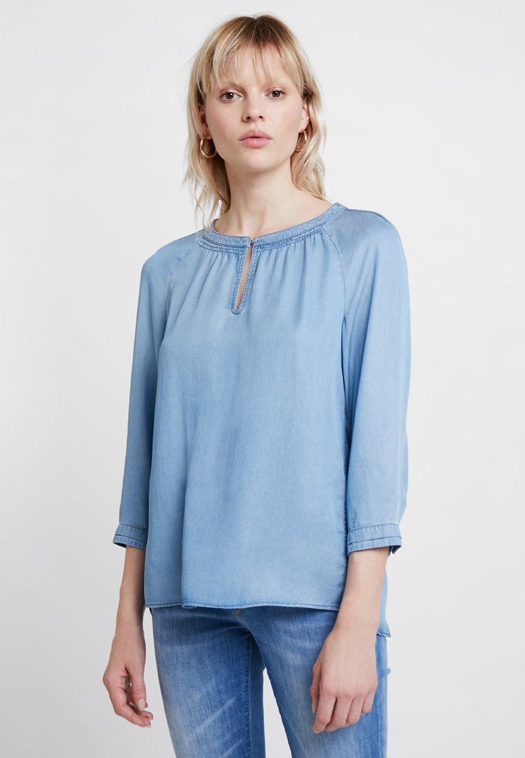 Marc O'Polo - BLOUSE 7/8 SLEEVE  CUFF WITH NICE - Blouse - blue denim