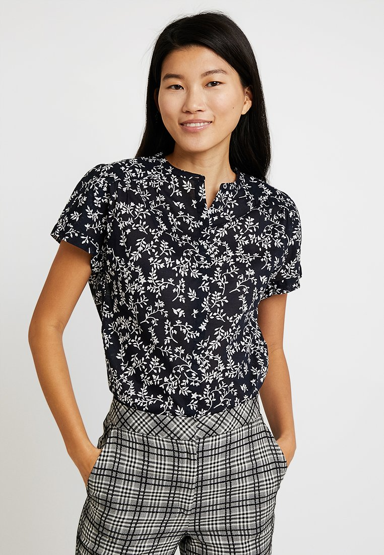 Marc O'Polo - BLOUSE MODERN FIT HIDDEN FRONT - Bluse - dark blue