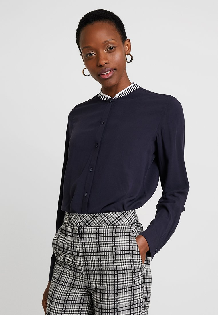 Marc O'Polo - BLOUSE LONG SLEEVED SPORTY COLLAR - Bluser - deep atlantic