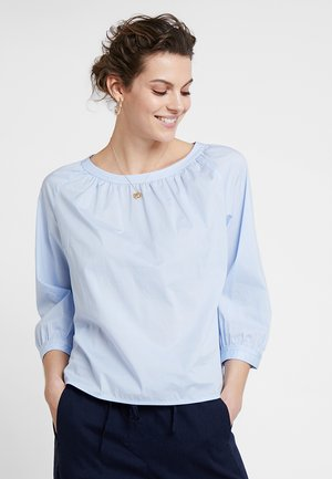 BLOUSE SLEEVE STITCHING - Blůza - light blue
