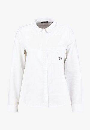BLOUSE KENT COLLAR LONG SLEEVED - Paitapusero - white