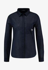Marc O'Polo - BLOUSE KENT COLLAR LONG SLEEVED - Skjorta - midnight blue - 4