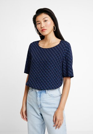 BLOUSE CREW NECK EASY SHAPE - Bluzka - combo