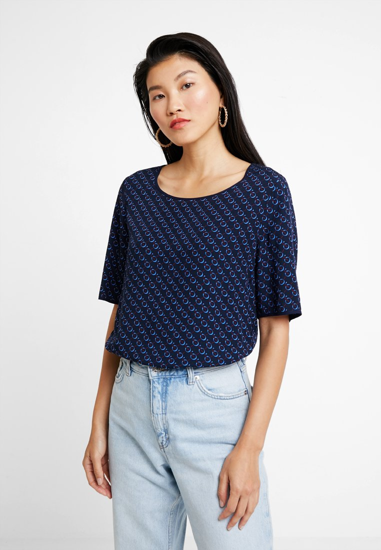 Marc O'Polo - BLOUSE CREW NECK EASY SHAPE - Bluse - combo