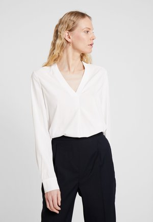 BLOUSE V-NECK LONG SLEEVED - Bluzka - off white