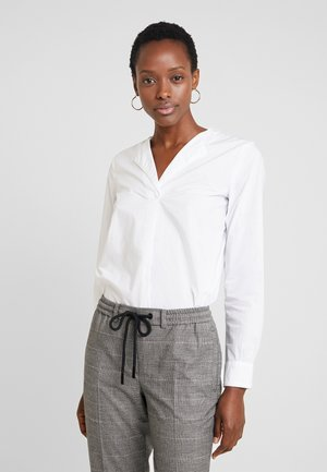 BLOUSE CREW NECK WITH SLIT - Blůza - white