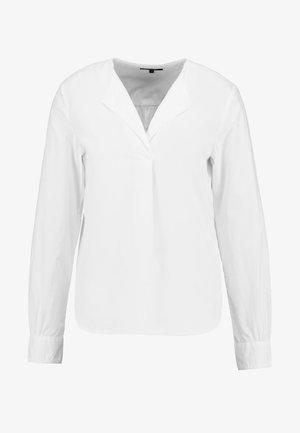 BLOUSE CREW NECK WITH SLIT - Blus - white