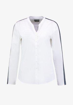 BLOUSE CREW NECK SLIT - Blouse - white