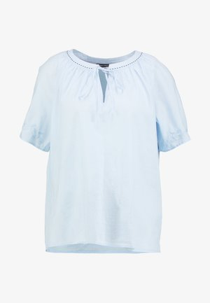 BLOUSE EMBROIDERY SHORT SLEEVES - Blouse - light blue