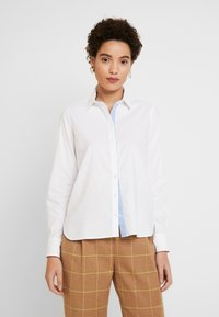 Marc O'Polo - BLOUSE LONG SLEEVED - Button-down blouse - off white - 0