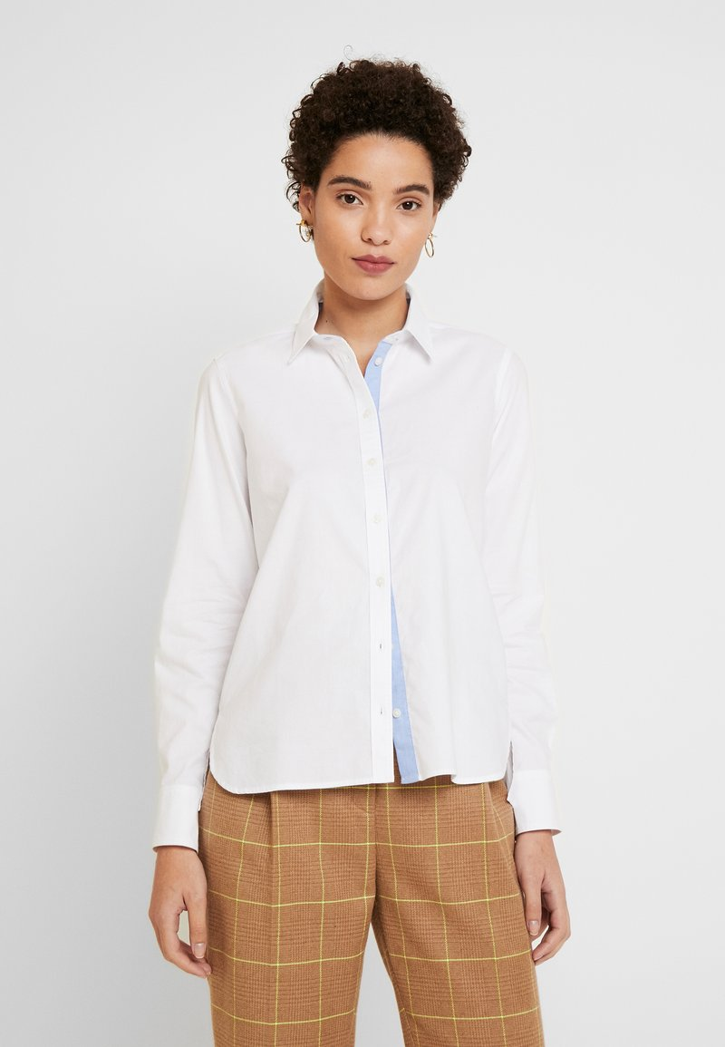 Marc O'Polo - BLOUSE LONG SLEEVED - Button-down blouse - off white
