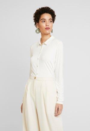 BLOUSE LONG SLEEVE COLLAR - Skjorte - soft white