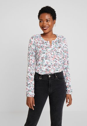LONG SLEEVE ROUND NECK WITH PLACKET - Bluse - combo
