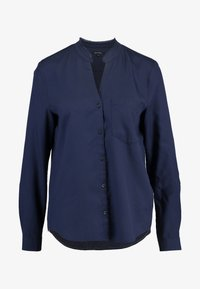 Marc O'Polo - BLOUSE ROUND NECK WITH FRINGES - Overhemdblouse - midnight sea - 3