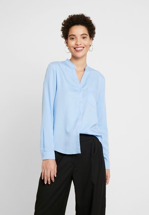 BLOUSE ROUND NECK WITH FRINGES - Košile - spring sky