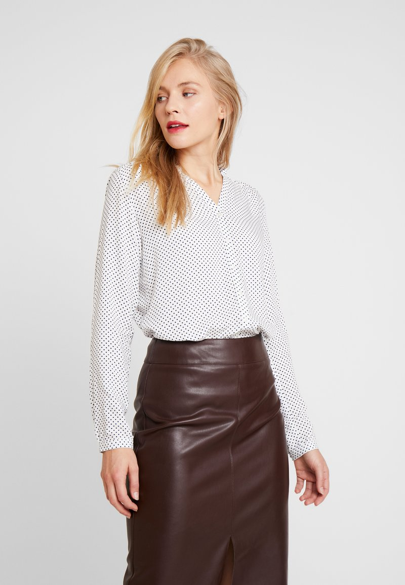 Marc O'Polo - BLOUSE CREW WITH OPEN SLIT LONG - Skjorta - combo