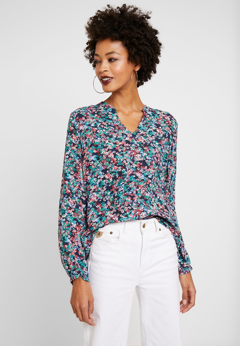 Marc O'Polo - BLOUSE OPEN V NECK LONG SLEEVED - Bluzka - multi-coloured