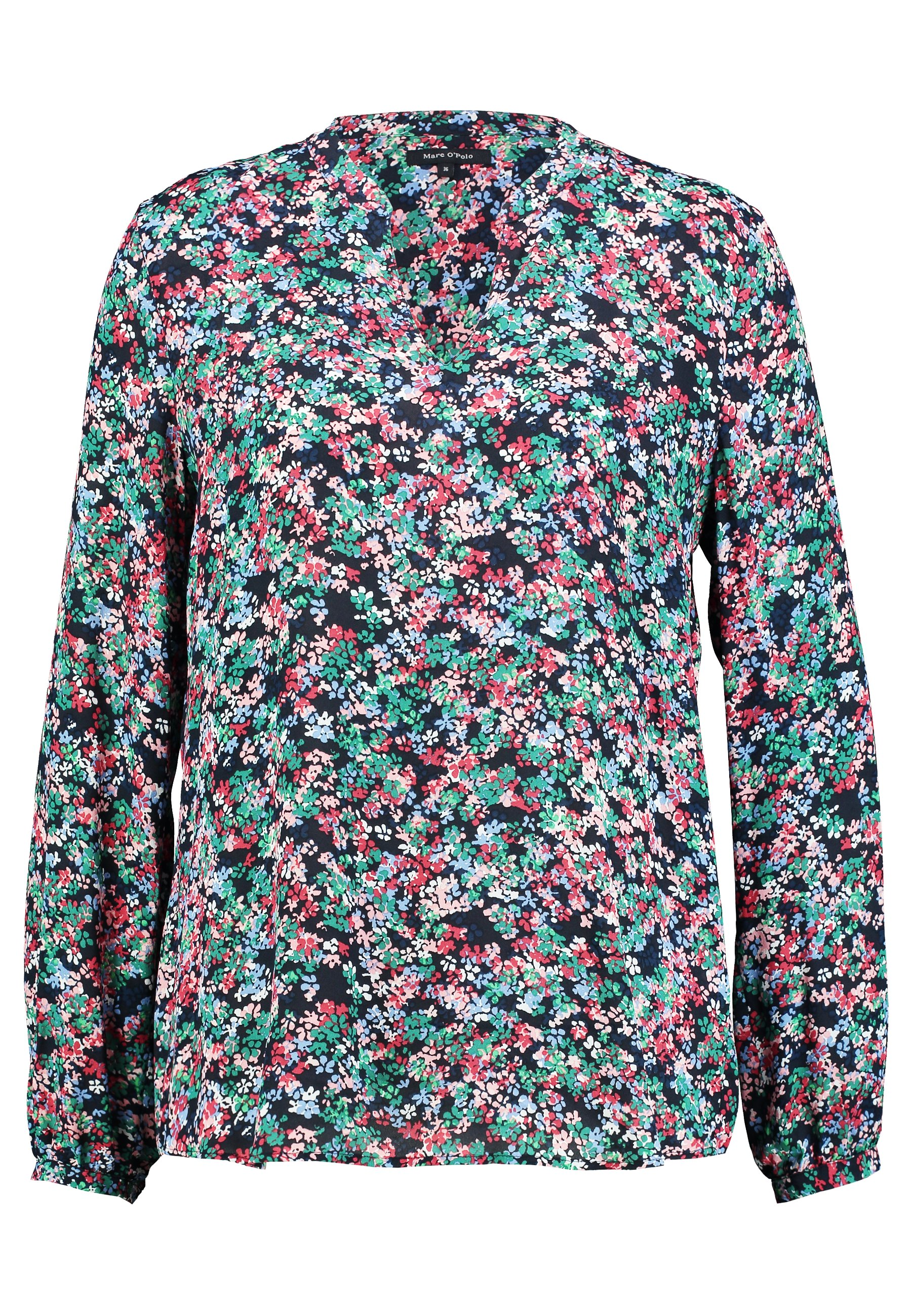 Marc O'polo Blouse Open V Neck Long Sleeved - Blus Multi-coloured