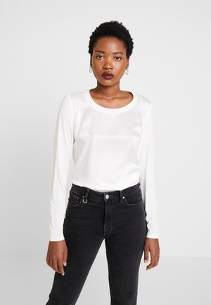 BLOUSE CREW NECK LONG SLEEVED - Blouse - off white