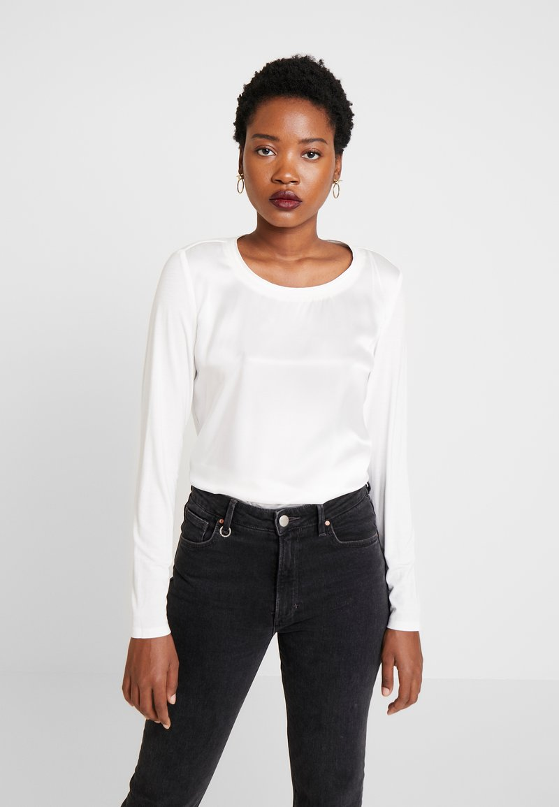 Marc O'Polo - BLOUSE CREW NECK LONG SLEEVED - Pusero - off white