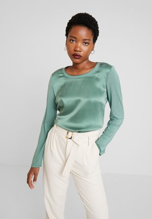 BLOUSE CREW NECK LONG SLEEVED - Bluzka - sea green