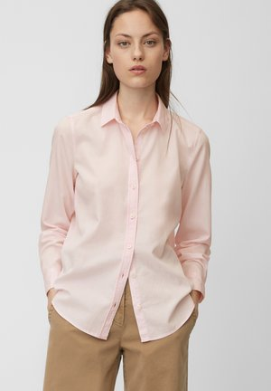 LONG SLEEVED - Button-down blouse - mottled pink