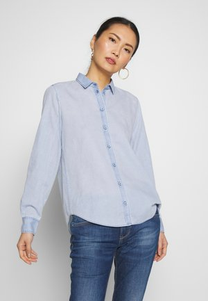 LONG SLEEVED - Button-down blouse - foggy sky