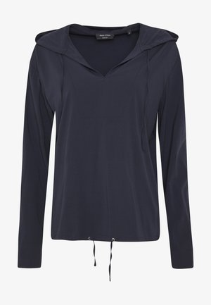 BLOUSE V-NECK WITH HOODED COLLAR - Pusero - night sky