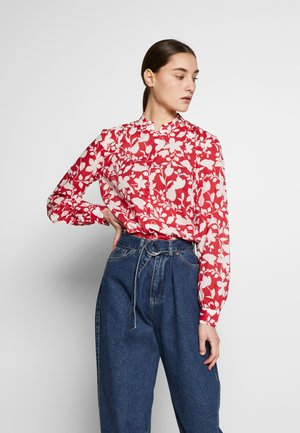 BLOUSE STAND UP COLLAR  - Košile - bright berry